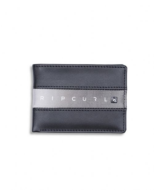 RIP CURL MENS WALLET.BLOCKADE SLIM BLACK FAUX LEATHER NOTE COIN PURSE 8W S2 90